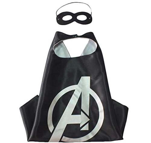 Over 35+ Styles Superhero Halloween Party Cape and Mask Set for Kids (Avengers)