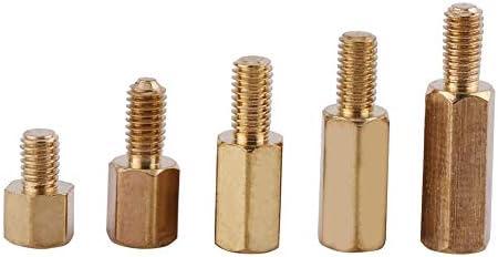 Inserciones de tuerca 300pcs M3 Separadores de lat/ón Hexagonal macho-hembra y hembra-hembra Stand-Off DIY Set for placa base