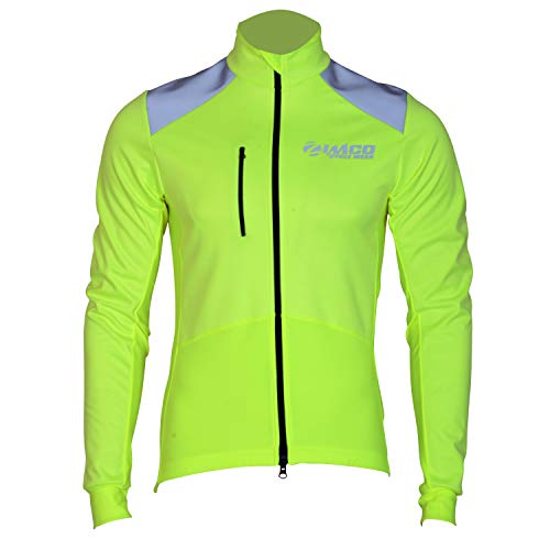 Zimco Pro Winter Cycling Jacket High Visibility Bicycle Thermal Jacket Bike