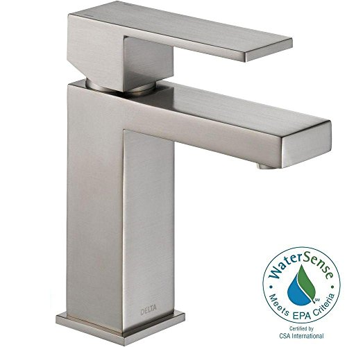 Bathroom Sink Faucet Satin - Delta Modern Single-Handle Bathroom Faucet with Drain Assembly, Stainless 567LF-SSPP