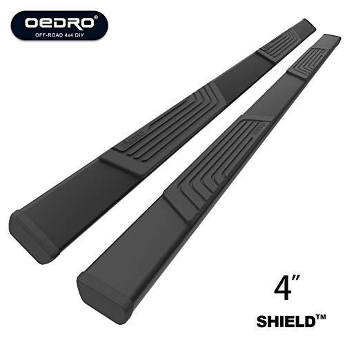 "OEDRO 4"" Side Steps SHIELD Kit for 2009-2018 Dodge Ram 1500 & 2010-2019 Ram 2500/3500 Crew Cab, Upgraded Textured Black Heavy Duty Truck Nerf Bars Running Boards"