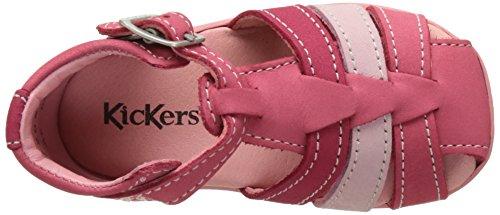 Kickers Bigfly - Primeros Pasos de Otra Piel Bebé-Niños Rose (Rose Rose Clair Fuchsia)