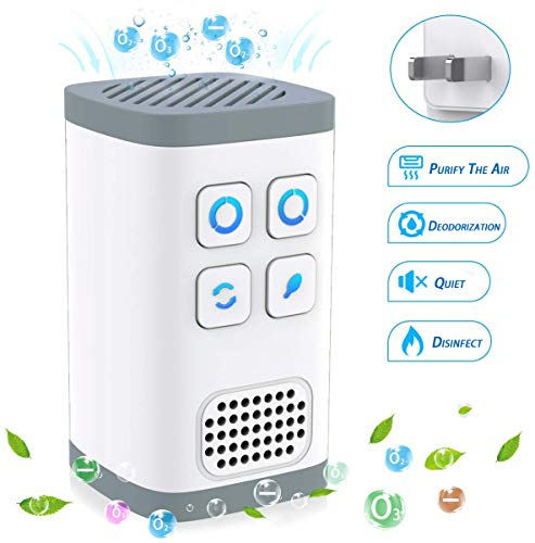 L N Always 4IN1 Portable Air Purifier Mini Ozone Generator Negative Ion Generator No Filter Change Need Design Air Cleaner for Odors Eliminating, Travelling, Outdoor, Room, Pets