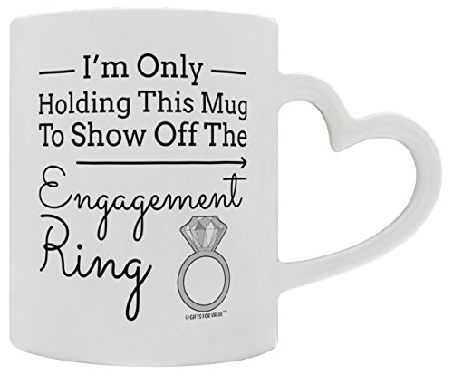 Amazon.com: Fiancee Gifts I'm Only Holding this Mug to Show Off ...