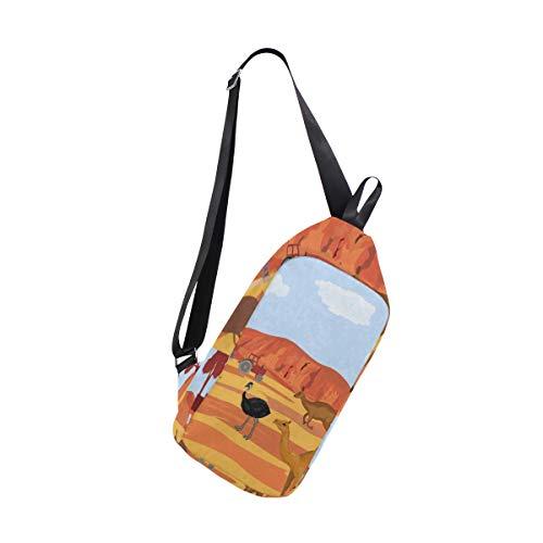 Sling Bag Australia Kangaroo Ostrich Womens Chest Shoulder Backpacks Crossbody Outdoor Daypack (Best Canvas Tents Australia)