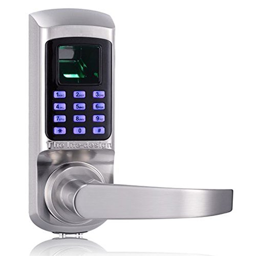 HARFO HL20 Keyless Keypad Door Lock with Fingerprint Scanner, Perfect for Office & Home (Satin Nickel) by HARFO