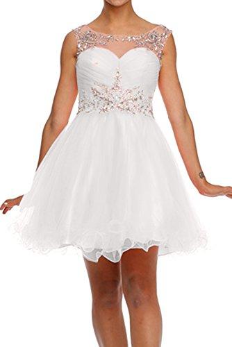 Kurz Abiballkleider 2017 Tuell Abendkleider Cocktailkleider Rund Stein Ivydressing Paillette Weiß Suess Xnq81pwA