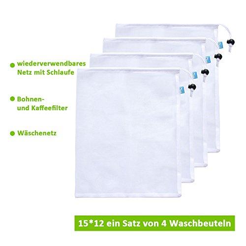 MIU COLOR® 4pcs Wäschenetz - und Wäschebeutel mit Nylon-Mesh- Taschen Einkaufsnetz