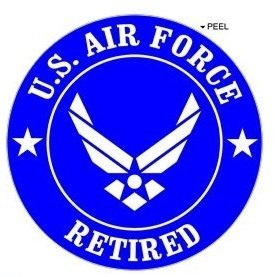 Retired-US-Air-Force-Airforce-Wings-USAF-Window-Bumper-Locker-Sticker