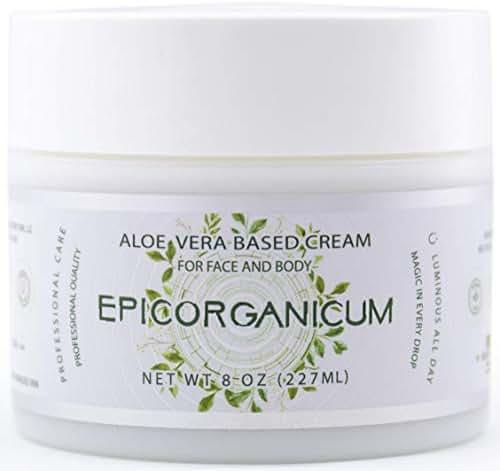 Organic Aloe Vera Moisturizing Cream Body and Face Moisturizer For Acne, Psoriasis, Rosacea, Eczema, Aging, Itchy Dry or Sensitive Skin Care Cream, 8 oz Skin Care Face Natural Cream (8 OZ)