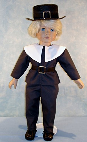 18 Inch Doll Clothes - Pilgrim Thanksgiving Boy Doll Outfit handmade by Jane Ellen to fit 18 inch dolls