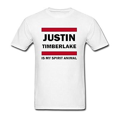 Liyo Mens Justin Timberlake Is My Spirit Animal T Shirts