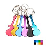 Swatom Guitar Shape Bottle Opener Music Keychains, 6 Piece Review