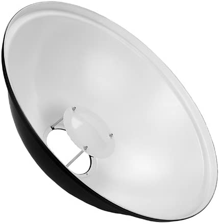 Soft White Interior All Metal Beauty Dish with Broncolor Impact Insert 55cm Fotodiox Pro 22in