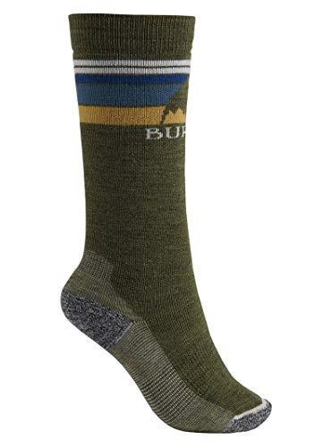 Burton Girls Socks - Burton Boys Youth Emblem Midweight Sock, Olive Heather, Medium/Large