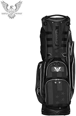 Subtle Patriot Covert 15 Club Golf Stand Bag 5 Way Top