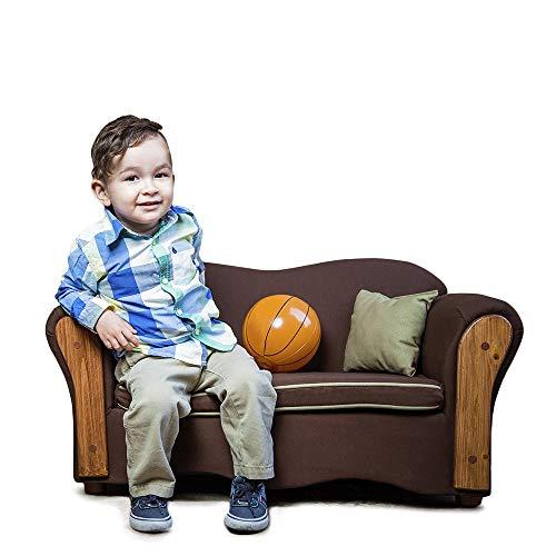 KEET Homey VIP Organic Kid's Sofa, Brown/Beige ()