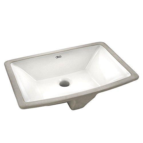 American Standard 0330000.020 Townsend Under Counter Sink, White American Standard Bathroom Sinks Counter