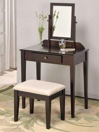 Amazoncom Espresso Founder Wooden Vanity Set W Stool Mirror