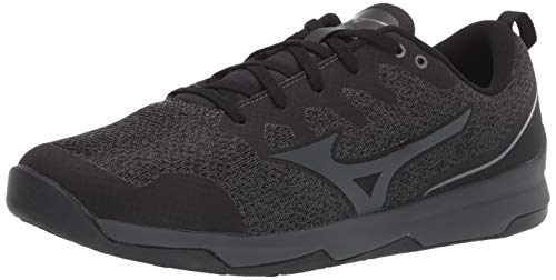 Mizuno Men's TC-02 Cross Training Shoe, Cross Training Sneakers for all forms of Exercise, Black-Charcoal, 12 D US
