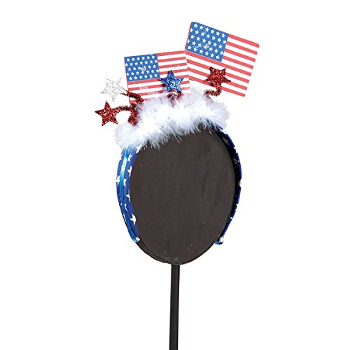(GALLERIE II 4th of July, Military Homecoming Patriotic Flags LED Light-up Fascinator Headband Hair Accessory)