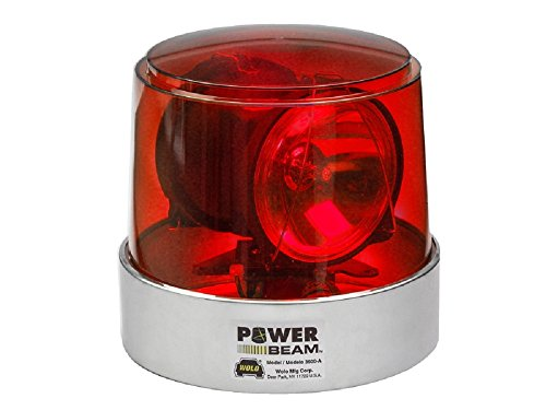 Wolo (3610-R) Power Beam Halogen Rotating Emergency Warning Light - Red Lens