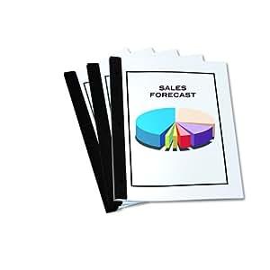 Redi-Tag Redi-Bind Binder Bars, 50-Sheet Capacity, Black, 12 Bars per Pack (13008)