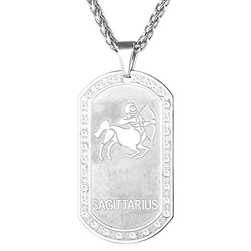 Zodiac Stainless Steel Necklaces Pendants - 6