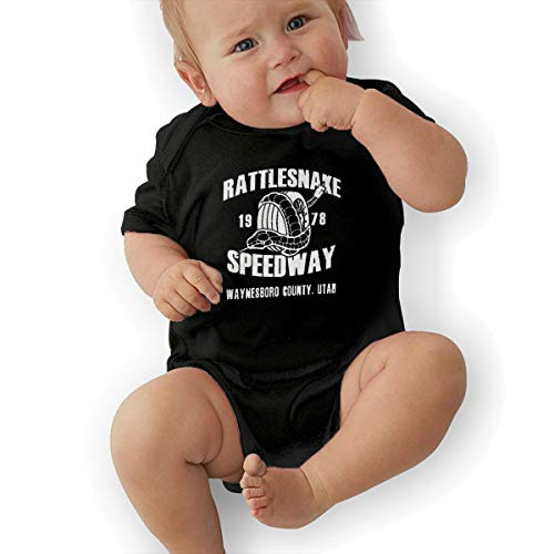 Kids Baby Short Sleeve Romper Rattlesnake 1978 Speedway Unisex Cotton Cute Jumpsuit Baby Crawler Clothes Black