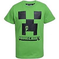 MINECRAFT Camiseta de niño de manga corta de algodón 100% original