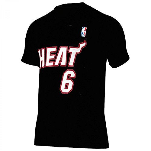 ADIDAS NBA Gametime Player T-Shirt Basketball S Miami Heat, Nr 6 James