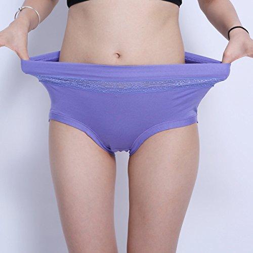 POKWAI 4 Paquete De Mujer Ropa Interior Ropa Interior En La Cintura Alta De La Cintura Del Algodón Modal Pantalones Súper Cómodo A2