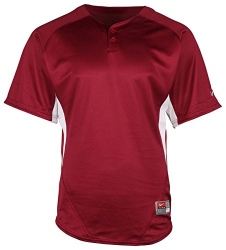 Mens Nike Stock (NIKE Men's Dri-Fit Stock Pullover Baseball Jersey-Maroon-Small)
