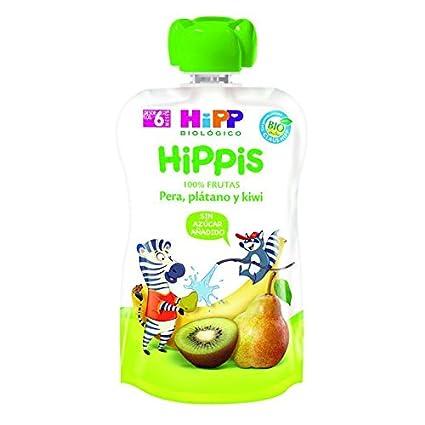 HiPP Bolsitas Biológicas Kiwi, pera y plátano, 100 g