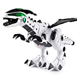 JYC Store Electric Spray Dinosaur Dragon Electric Robot Pet With Music Light Kids Toy Gift (White)