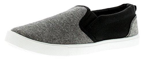 Rockstorm Liam Jungen Segeltuch Schuhe Grau - Grau - UK Größen 1-13