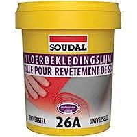 Soudal Vloerbedekkingslijm 26A voor zachte vloerbedekkingen zoals vinyl, textiel, PVC linoleum emmer 1 kg