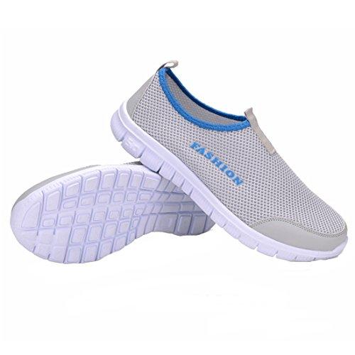 Gris De Fonctionnement Air Clair Hommes Plein Perméable Baskets Chaussures q0EfwxEP