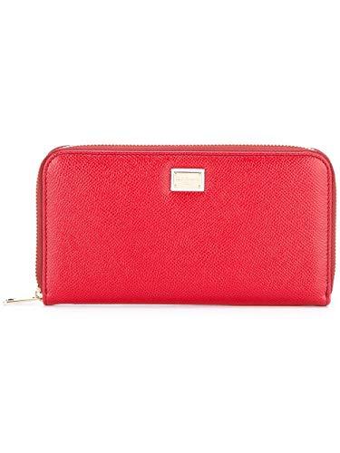 Gabbana Mujer amp; Rojo Dolce Cuero Billetera BI0473A100180303 U5pgWwq