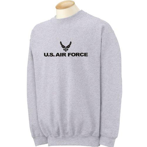 (zerogravitee Air Force - Military Style Physical Training Crewneck Sweatshirt in Gray - XXXX-Large)