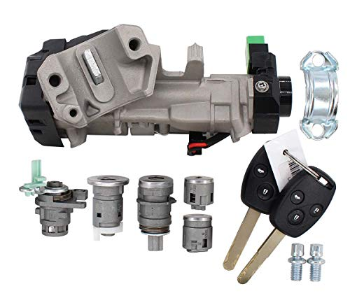 New Complete Set Ignition Switch Cylinder Door Lock Trans key for Honda Accord 2006-2007
