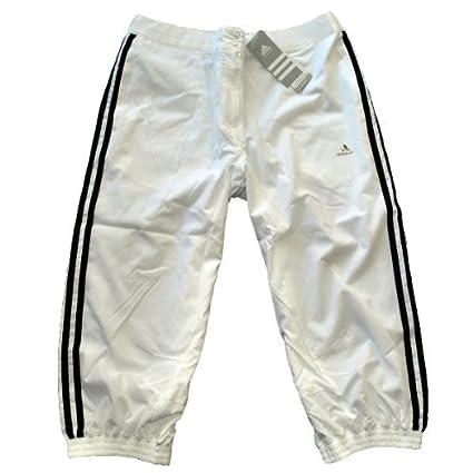 Adidas Capri Damen ClimaLite Jogginghose 3/4 Hose, weiß ...