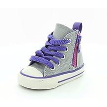 Converse Girls Chuck Taylor All Star Hi Side Zip Sneaker