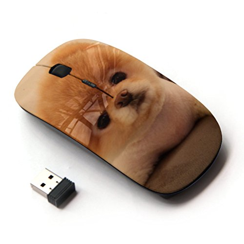 KOOLmouse [ Optical 2.4G Wireless Mouse ] [ Pomeranian Puppy Golden Brown Dog ]