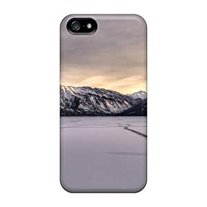 Fashionable KrZMi3323cUDvv Iphone 5/5s Case Cover For Lake Minnewanka Canada In Winter Protective Case