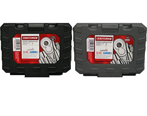 Craftsman 1/4 inch Drive Ratchet Socket Sets (22pc) Standard and Metric