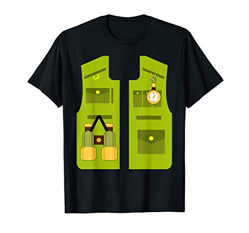 Zookeeper Costume Funny Halloween Gifts Jungle Explorer Kids T-Shirt]()