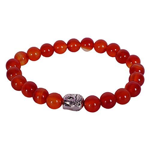 Rabela ® Red Beads stone Bracelet Made of natural red Agate Budha Bead Bracelet round Beads stone Bracelet Free size elastic Natural Healing Energy Handmade unisex bracelet BRC-012 (B07NGNBDN8) Amazon Price History, Amazon Price Tracker