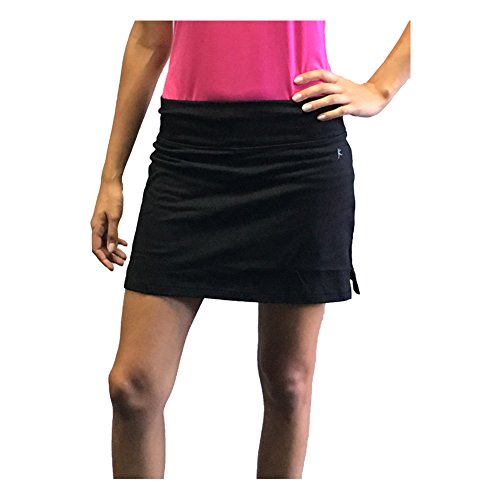 Womens Basic Skort for Tennis, Golf or Active (Small, Black)