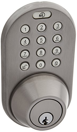 milocks xfk 02sn digital deadbolt door lock and passage knob combo with keyless entry via remote. Black Bedroom Furniture Sets. Home Design Ideas